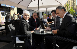 JADRANKA KOSOR On Monday morning she sat down for coffee with Finance Minister Ivan Suker, Education Minister Radovan Fuchs and Croatian Telekom CEO Ivica Mudrinic