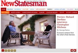 Richard Dawkins i Christopher Hitchens; Screenshot: New Statesman