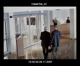 AFTER THE MEETING a security camera a half hour later recorded Goran Strok seeing Ivo Zeravica out of the Palace hotel. The continued their conversation in front of the hotel