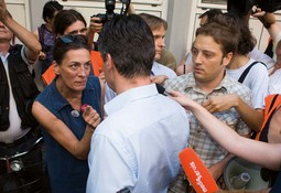 ACTRESS URSA RAUKAR, one of the protesters with the highest press exposure, sharply opposed Zoran Milanovic