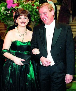 THE PASSER COUPLE at the Vienna Opernball in 2000: Michael Passer's phone would suddenly go dead every time we asked him about his business dealings with Sanader