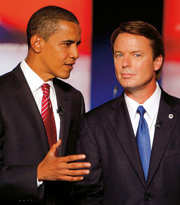 Barrack Hussein Obama i John Edwards