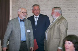 THREE FORMER STARS The top stars at the forum in Alpbach: former Stability Pact Coordinator Erhard Busek, former Croatian Prime Minister Ivo Sanader and former EU Agriculture Commissioner Franz Fischler
