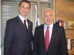 WITH BENJAMIN NETANYAHU The Israeli premier wants to see Dragan Primorac in his educational advisory team