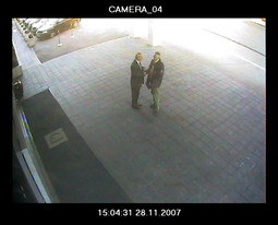 STROK AND ZERAVICA The businessman and the assistant head of the State Administration Office in Dubrovnik recorded by the security cameras at the hotel Palace