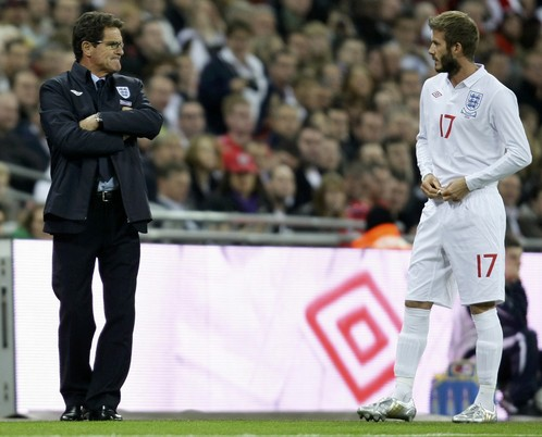 Fabio Capello i David Beckham