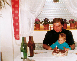 Filip Ude with his father Ivan, who passed away in 1993