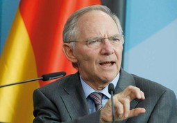 WOLFGANG SCHAUBLE, the German Finance Minister, holds a doctorate in law and has been a member of the German federal parliament since 1972