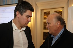 SDP PRESIDENT Zoran Milanovic with Slavko Linic, who is mentioned in the intelligence report
