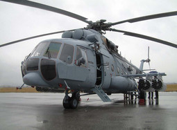 KOSOVO MISSION Croatian helicopters take off for NATO KFOR mission