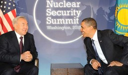 Nursultan Nazarbayev i Barack Obama