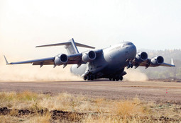 The C-17 GLOBEMASTER III is currently the largest military transport aircraft, and is in the world of military aircraft what the Airbus A380 is in the world of commercial airplanes